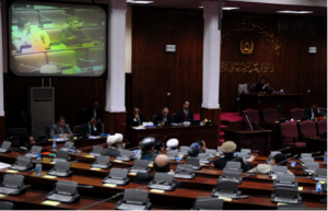 Inside the Afghan National Assembly, known as Wolesi Jirga or House of People.  Courtesy of http://www.pajhwok.com