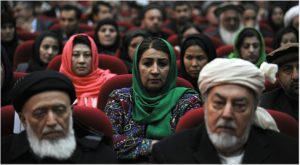 The Afghan National Assembly is as diverse as the population of Afghanistan.  In addition to representing many ethnic minorities, it also represents hardliners, women, religious minorities, and an increasing number of special interests.  Courtesy of www.nytimes.com.