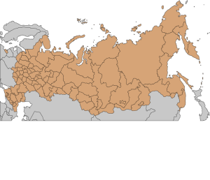 Map of  Russia Fremantleboy Photo Credit: Via Wikimedia Commons