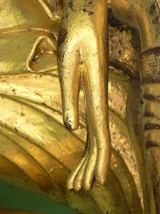 Hand of Lord Buddha, Shwedagon Pagoda, Yangon Photo Credit: YashiWong via Wikimedia Commons