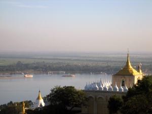 Pagodas on Sagaing Hill overlooking the Ayeyarwady River Photo Credit: Xianzi Tan via Wikimedia Commons