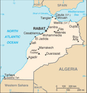 Map of Morocco Photo Credit: US CIA WF via Wikimedia Commons