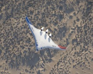 750px-Boeing_X-48B_banks_in_flight_over_Edwards_AFB