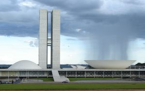 National Congress, Brasilia Photo Credit: Eurico Zimbres via Wikimedia Commons