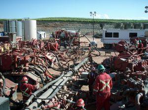 Fracking in Progress Photo Credit: Joshua Doubek via Wikimedia Commons