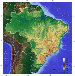 Map of Brazil Photo Credit:  Captain Blood via Wikimedia Commons