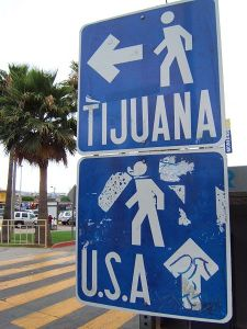 San Diego – Tijuana Pedestrian Border Crossing Photo Credit: Toksave via Wikimedia Commons