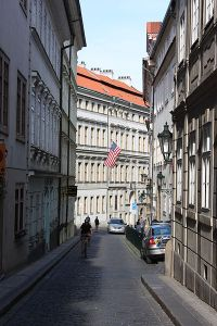 US Embassy in Prague, Czech Republic Photo Credit: Kenyh Cevarom via Wikimedia Commons