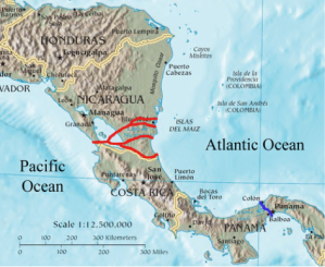 The current design plan for the Grand Interoceanic Canal is to build 4 inter-connected canals.  It is expected that all canals should be completed by 2020.  This will dramatically increase its capacity and competitiveness, and it will change international seaborne commerce forever.   Courtesy of http:// http://en.wikipedia.org