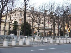 US Embassy in Paris, France Photo Credit: Krokodyl via Wikimedia Commons