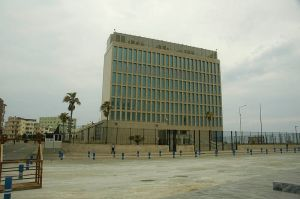 US Interest Section in Havana, Cuba Photo Credit: Stevenbedrick via Wikimedia Commons