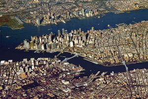 Aerial View of New York City Photo Credit: Wikimedia Commons