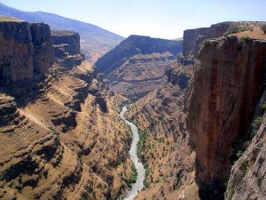 Canyon in Rawanduz in northern Iraqi Kurdistan, offers some of the most beautiful scenery in Asia.  While exports of natural resources are highly profitable for the Kurdish Regional Government, the tourism industry accounts for almost 20% of the region's GDP.   It is likely that this industry will also experience substantial growth as the interest in Iraqi Kurdistan continues to accelerate, and 2 international airports with multiple international airlines offer easy access the region.  Courtesy of http:// http://en.wikipedia.org.