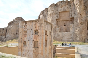 Cube of Zoroaster.  Iran's rich culture spans over thousands of years.   This tower-like construction was in the 5th Century BC.  Iran's tourism and industry are likely to grow fast once the sanctions are removed.  Courtesy of http:// http://en.wikipedia.org