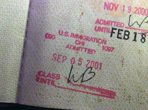 US Immigration Passport Stamp by Pmkpmk (Own work) [CC BY-SA 3.0 (http://creativecommons.org/licenses/by-sa/3.0)], via Wikimedia Commons