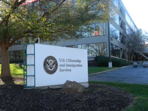 """U.S. Citizenship and Immigration Service"" by Gulbenk - Own work. Licensed under CC BY-SA 3.0 via Commons"