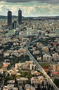Zahran district in the capital city of Amman.  Courtesy of http:// http://en.wikipedia.org